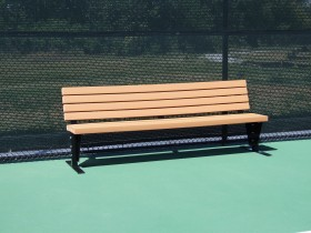 8' Bench with Backrest
