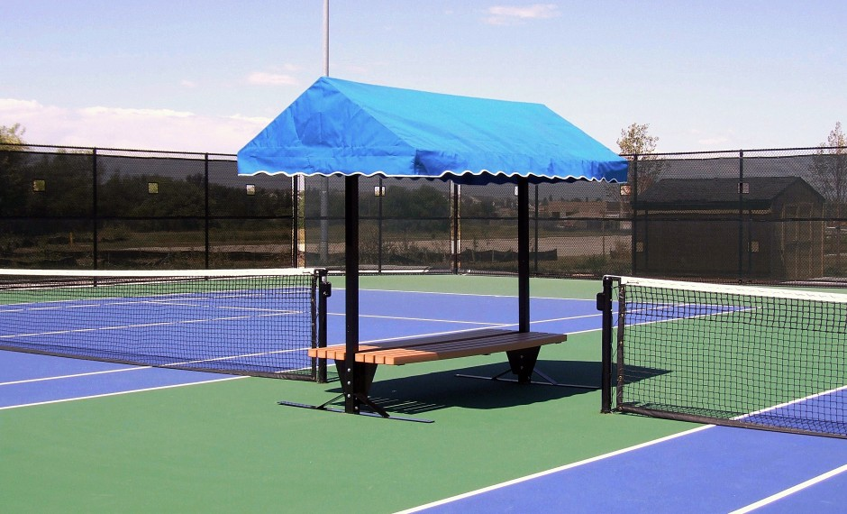 Sun Trends Inc. | Tennis Court Benches & Shade – Cabana Bench