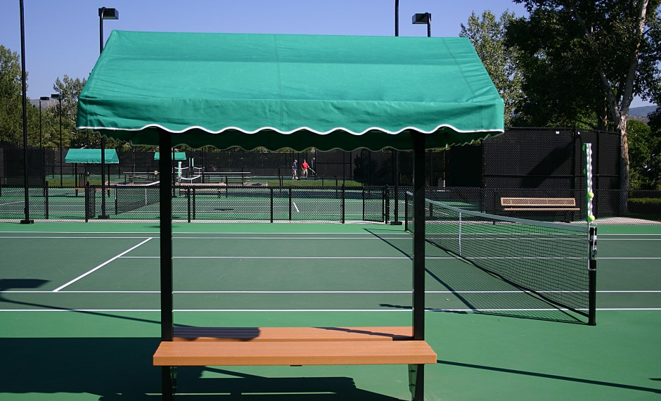 Sun Trends Inc Tennis Court Benches Amp Shade Cabana